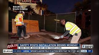 Las Vegas Strip safety post constuction begins Monday - Video