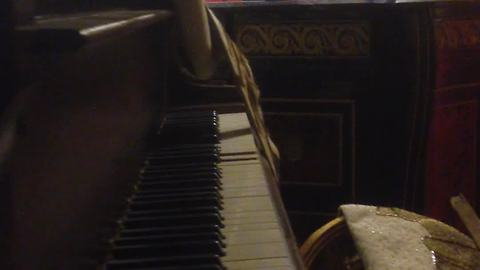 Haunted piano plays by itself