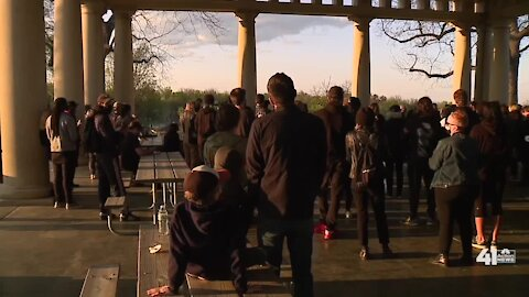 Black Rainbow KC holds candlelight vigil at Swope Park