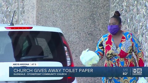Glendale church gives away toilet paper