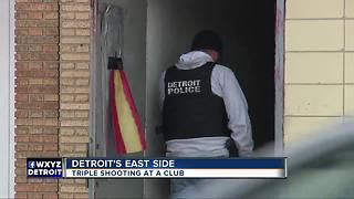 Triple shooting at club on Detroit's east side - Video