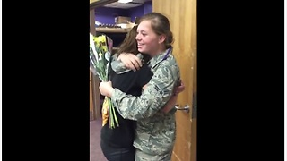 Soldier Surprise Visits Her Little Sister At School  - Video