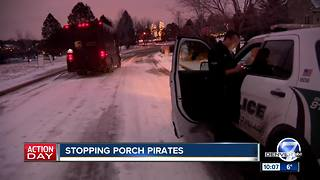 Police patrols check on holiday deliveries to combat Colorado porch pirates - Video