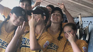 Girls Little League Softball Team DISQUALIFIED for Flipping the Bird - Video