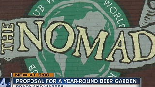 Year-round beer garden planned for Brady Street - Video