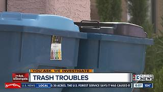 Las Vegas senior frustrated by carry-out trash service - Video