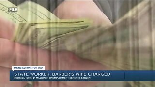 State worker, barber's wife charged for allegedly stealing $1 million in unemployment benefits