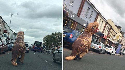 "Dinosaur causes ""Havoc"" on busy high street"