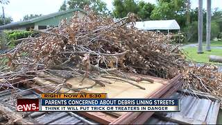 Parents: Hurricane debris will endanger trick-or-treaters - Video