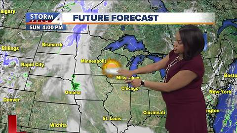 Some sunshine for Sunday, not as windy
