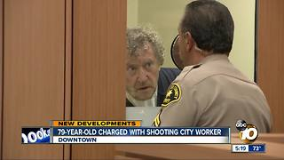 79-year-old charged with shooting city worker - Video