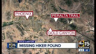 Missing hiker found in Gold Canyon - Video