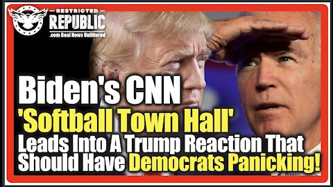 Biden's CNN 'Softball Town Hall' Leads Into A Trump Reaction That Should Have Democrats Panicking!