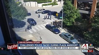 Plaza shooting presented challenge to officers
