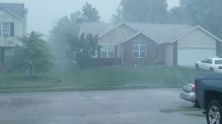 Severe Thunderstorm Hits Troy, Illinois - Video