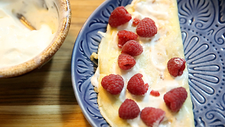 Let's Make: These Light and Wonderful Lemon-Raspberry Crepes - Video