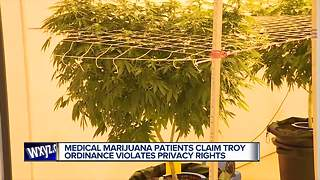 Medical marijuana patients claim Troy ordinance violates privacy rights - Video