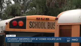 School bus dropped off student hours after dismissal