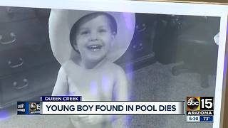 Young boy found in Queen Creek pool recently has died - Video