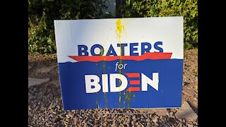 Political signs vandalized in Las Vegas