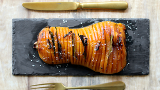 Hasselback Butternut Pumpkin Recipe Is A Perfect Dish For Thanksgiving