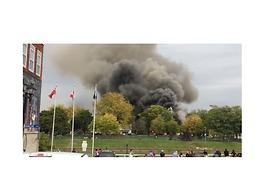 'Toxic' Smoke Erupts From Military Surplus Store Fire in Chatham-Kent, Ontario - Video