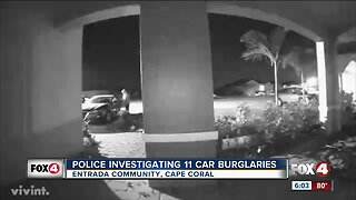 Video: Car burglary suspects caught on camera in Cape Coral community