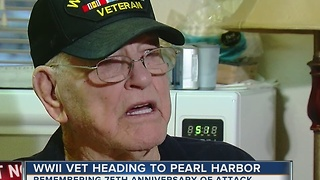 WWII Veteran Heading To Pearl Harbor - Video