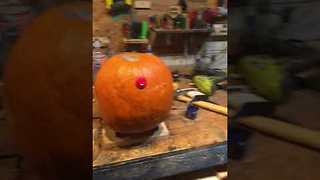 Extremely Cute Robot Pumpkin Breaks its Neck - Video