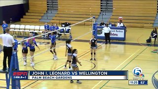 High School Volleyball Playoff Action