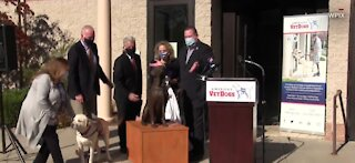George H.W. Bush's service dog honored with statue