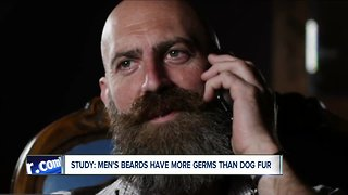 Study: men's beards have more germs than dog fur
