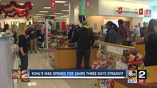 Kohl's opened doors till 6 p.m. for holiday shoppers - Video