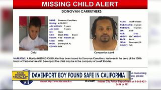 Missing 7-year-old boy from Davenport found safe in California - Video