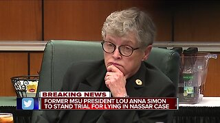 Former MSU President Lou Anna Simon to stand trial for lying in Nassar case