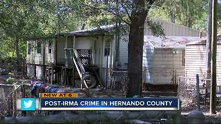 Crime increases in Hernando County after Irma - Video