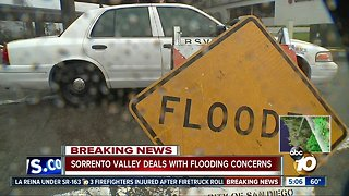 Sorrento Valley drivers deal with flood