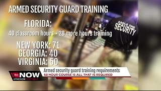 Armed security guard training requirements - Video