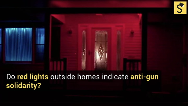 Do Red Lights Outside Homes Indicate Anti Gun Solidarity