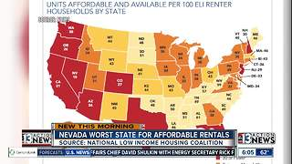 Nevada worst state for affordable rentals