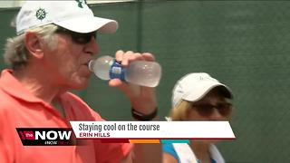 U.S. Open fans, workers deal with the heat - Video