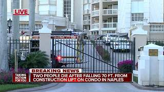 Two dead after falling 70 feet in elevator collapse in Naples - Video