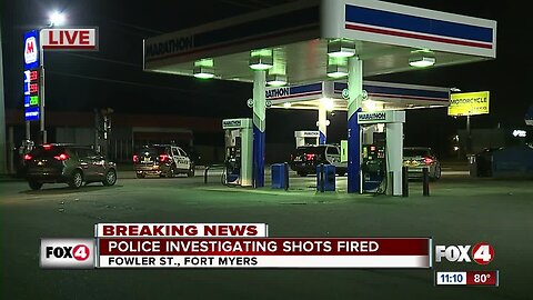 Police investigate scene at Fort Myers gas station on Fowler Street