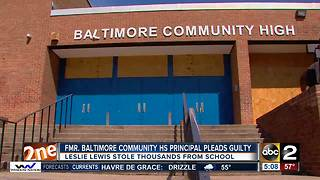 Former Baltimore principal pleads guilty to stealing school funds - Video