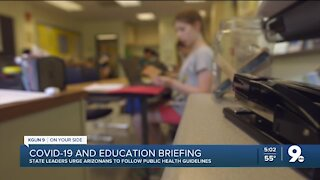 Arizona Public Health, School leaders hold news conference Monday afternoon