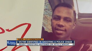 Victim identified in shooting and police chase