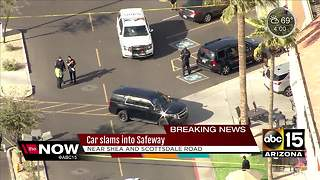 Car hits several people, crashes into Safeway in Scottsdale - Video