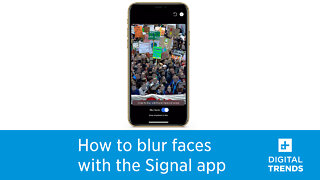 How to blur faces in pictures in the Signal app