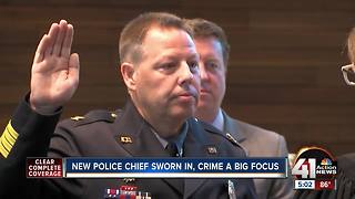 New KCPD Chief of Police Rick Smith sworn in