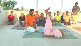 98-year-old Indian yoga guru credits ancient discipline for her long life - Video